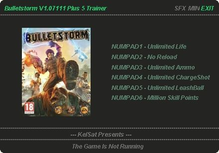Bulletstorm Cheats Trainers Bulletstorm Download Trainer