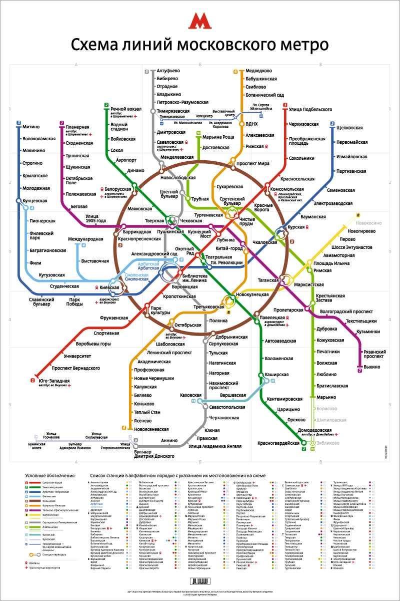 Схема метрополитена лебедев