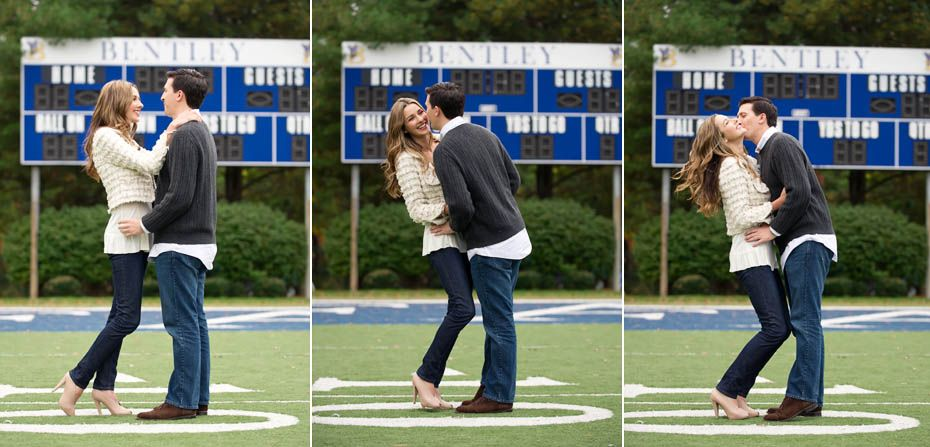 Engagement Pictures at Bentley University, Waltham, MA ...